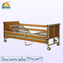 Elderly friendly wooden hospital bed