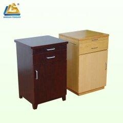 Wooden beech walnut hospital storage cabinet