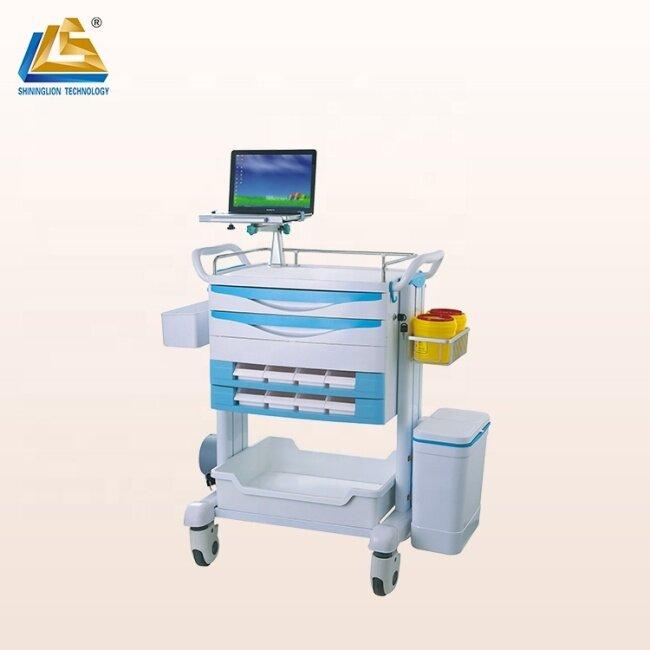 Flexible laptop stand medical cart