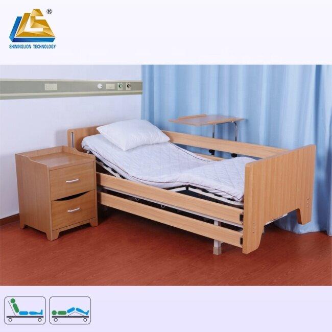 Full length safety siderails nursing bed