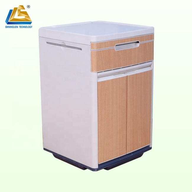 Plastic spacious bedside locker