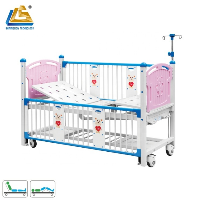 Deluxe two function manually operated children hospital bed