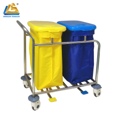 Hospital Trolley Stainless Steel Laundry Trolley with Wheels