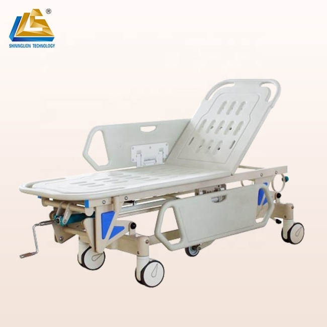 ABS emergency stretcher bed for patient transfer