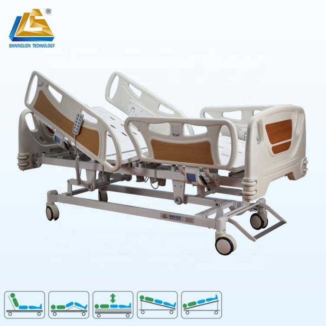 Deluxe five function electric hospital bed