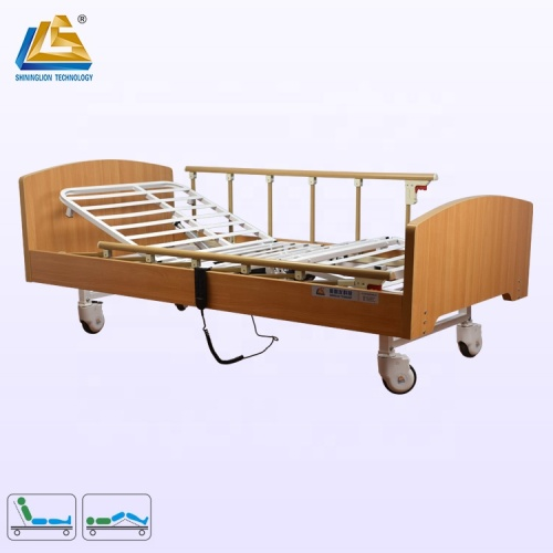 Wooden different types of hospital beds for home care