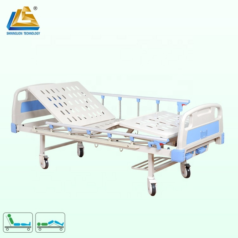 Two function manual hospital bed