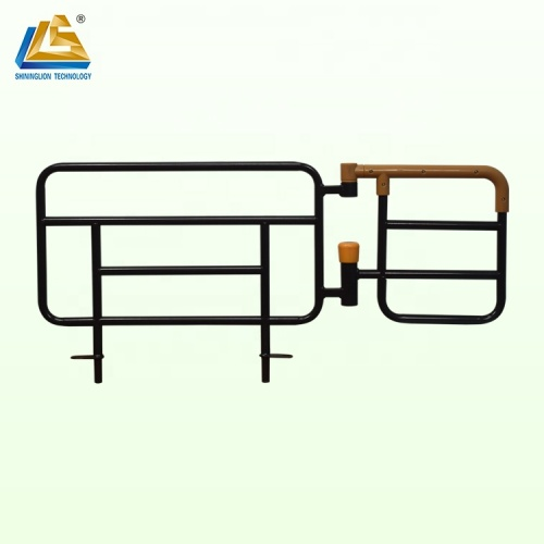 Insert type rotatable siderails for homecare beds