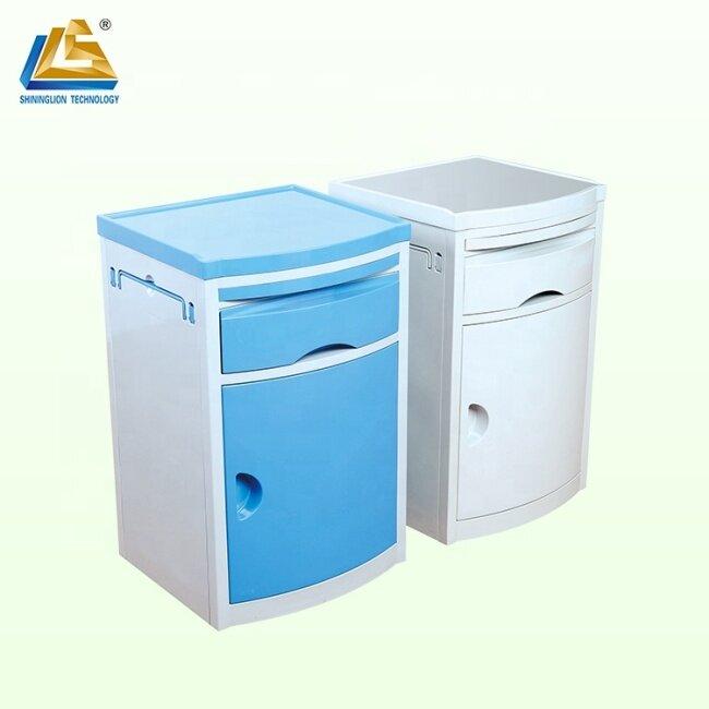 Plastic medical bedside cabinet