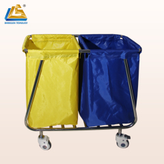 Hotel Linen Laundry Trolley Stainless Steel Laundry Trolley with Wheels