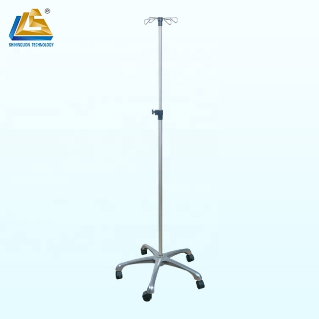 Stainless Steel IV Pole Stand with Big Base