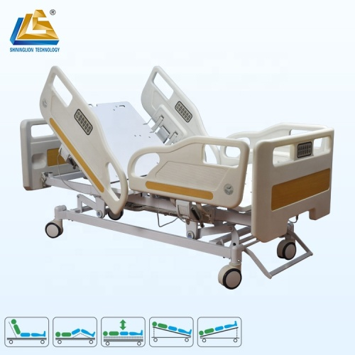 X-ray radiolucent backrest deluxe hospital bed