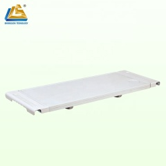 Space saving hospital over bed table