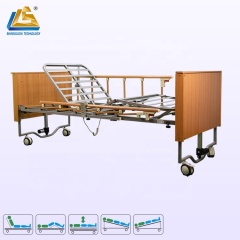 Elderly friendly wooden homecare bed