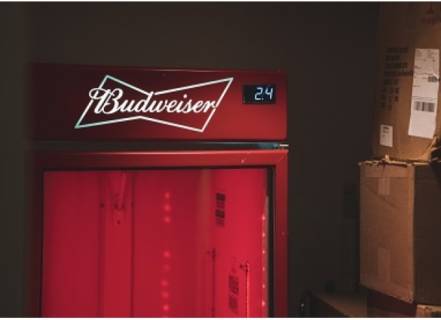 How King of Beer-- Budweiser Countertop Retro Cooler Back to Fashion