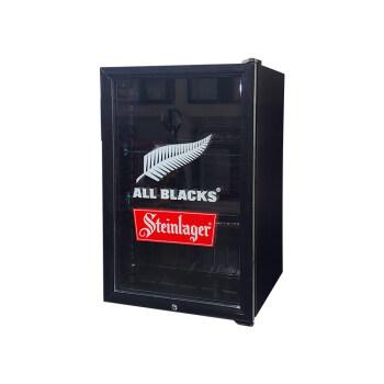 "Meisda SC130 130 Can 4.6 cu.ft Black Deli Countertop Cooler with Internal LED Lighting 21.3 """