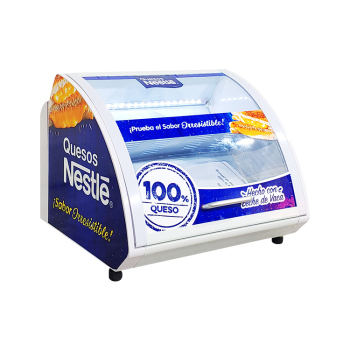 Nestle Branded SC15 0.5 cu.ft Flat Sweet Glass Fridge with branded curve glass door 16.3""