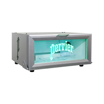 Perrier Sparkling Water SC25H 18 Can 0.9 cu.ft Flat Mobile Cooler with Etching Logo Display 23.6""