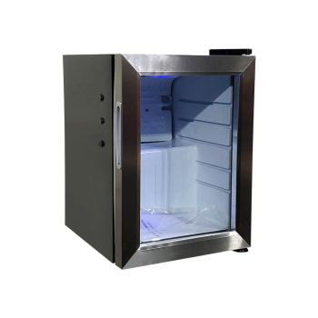 Meisda Black SC21 18 Can 0.7 cu.ft. Countertop Mini Cooler with Swing Glass Door 13""