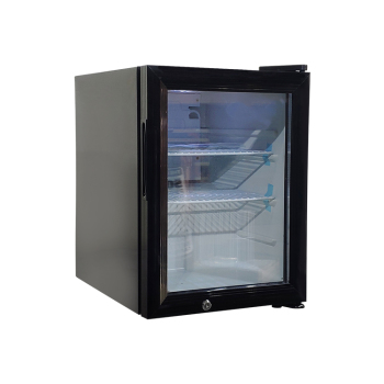 """Beer Custom Black SC35 24 Can 1.2 cu.ft.  Countertop Portable Fridge with Branded Sticker 14"""""""