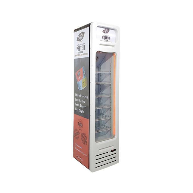 """Meisda SD105BG 3.8 cu.ft Vertical Slimline Icecream Freezer with Curved Design 16.5"""""""