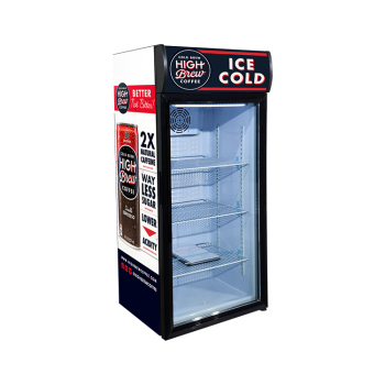 Ice Coffee SC130B 138 Can 4.6 cu.ft Freestand Fridge with Branded Lamp Box Display 21.3""