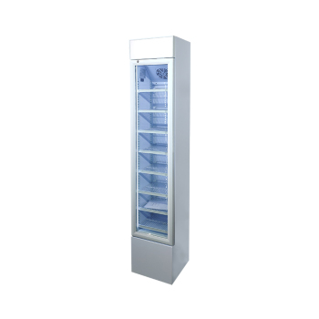 Meisda SC105B 120 Can 3.7 cu.ft Upright Display Cooler with Iconic Slimline Design 14.2""