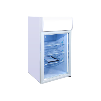 Meisda White SC68B 60 Can 2.4 cu.ft  Mini Fridge with Swing Door and Lock&Key 18.2 ""