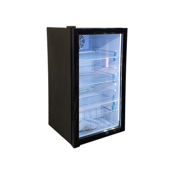 H2O Display SC98 85 Can 3.5 cu.ft Countertop Cooler with Glass Door Sticker Design 18.9""