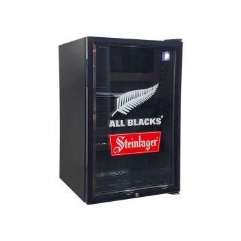 Glacier Beer SC130 130 Can 4.6 cu.ft Black Branded Beer Cooler with Swing Glass Door 21.3 ""