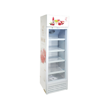 Meisda SC235BG 240 Can 8.3 cu.ft Vertical Chiller with Swing Door and 3-Side Sticker 21""