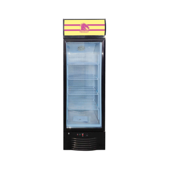 """Meisda SC218B 240 Can 7.7 cu.ft Free-Standing Upright Display Refrigerator 21.9"""""""