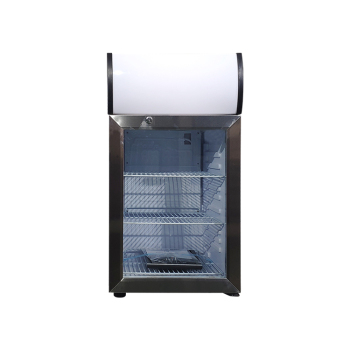 Meisda White SC40B 36 Can 1.4 cu.ft Mini Cooler with Big Size Lamp Box for Custom Use 15.7""