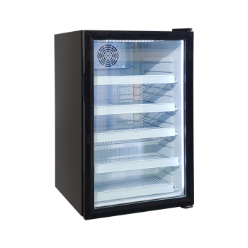 Meisda SC130 130 Can 4.6 cu.ft Black Deli Countertop Cooler with Internal LED Lighting 21.3 ""