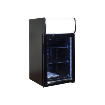 Meisda Black SC52B 48 Can 1.8 cu.ft Countertop Cooler with Big Size Lamp Box for Custom Use 16.5 ""