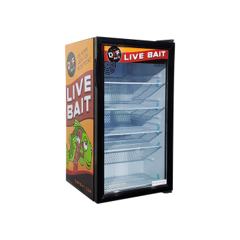 Lite Beer SC98 85 Can 3.5 cu.ft Vintage Bar Fridge with Solid Branded Door Design 18.9""