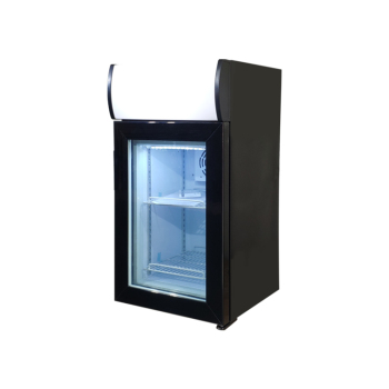 Meisda SD40B 1.4 cu.ft Countertop Display Freezer with Branded Lampbox 16.5""