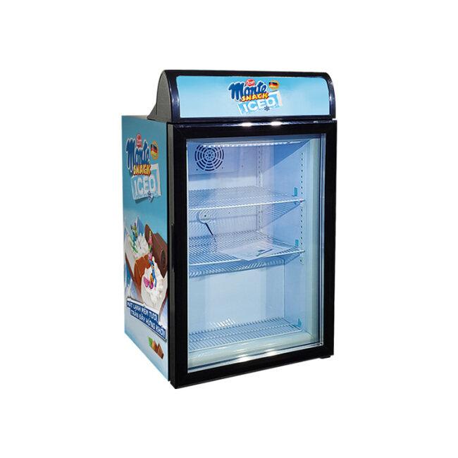 "Meisda SD98B 3.5 cu.ft Countertop Ice-cream Freezer with Branded Lampbox 23.4"""