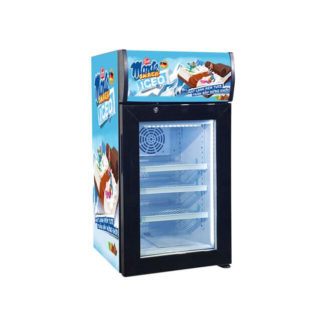 "Ice-Cream Brand Custom SD40B1.4 cu.ft Countertop Display Freezer with Branded Lampbox 16.5"""