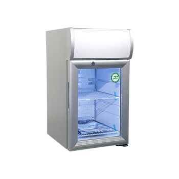 Meisda White SC21B 18 Can 0.7 cu.ft.  Countertop Impluse Fridge with Lamp Box for Custom Use 13""