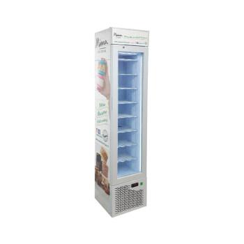 "Frozen Desserts SD105B 3.8 cu.ft Upright Freezing Merchandiser with Branded Slimline Design 16.5"""
