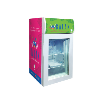 Ice-Cream Brand Custom SD40B1.4 cu.ft Countertop Display Freezer with Branded Lampbox 16.5""