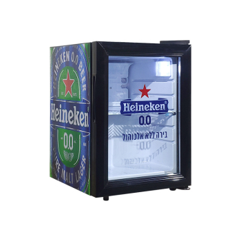 Heineken SC21 18 Can 0.7 cu.ft. Beer Countertop Mini Cooler with Glass Door Sticker 13""