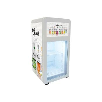 "Spirit Vodka SC68-D 60 Can 2.4 cu.ft Display Showcase with Custom Led Lighting 17.1"""