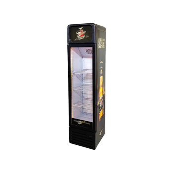 """Meisda SC135BG 140 Can 4.8 cu.ft Upright Cooler with Round Corner and Lamp box 16.5"""""""