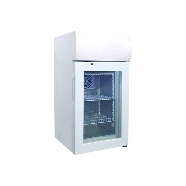 "Meisda SD40B 1.4 cu.ft Countertop Display Freezer with Branded Lampbox 16.5"""