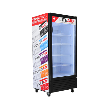 Energy Drink Custom SC190L 170 Can 6.7 cu.ft Upright Showcase with Large Storage 21.2""