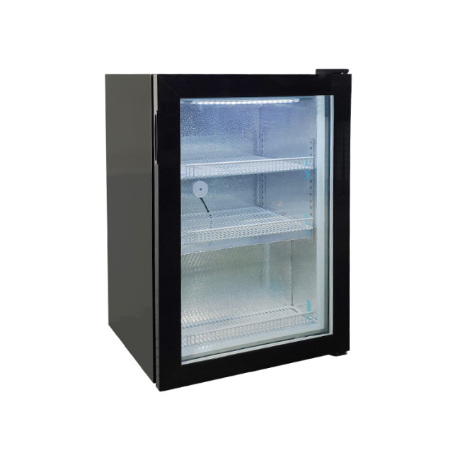 """Stainless Steel SD98 3.5 cu.ft Countertop Iceccream Freezer with Glass Door Branded Design 23.4"""""""