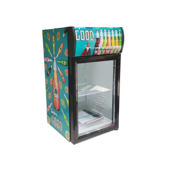 """Meisda SC52B 48 Can 1.8 cu.ft Countertop Cooler with Top Lit Header with Lock&Key 16.5 """""""