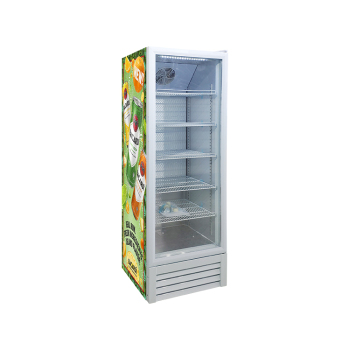 Vodka Meisda White SC235L 240 Can 8.3 cu.ft Supermarket Upright Showcase with HD 3-Side Sticker 21""